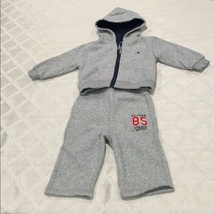 Gray sweatsuit for baby boy